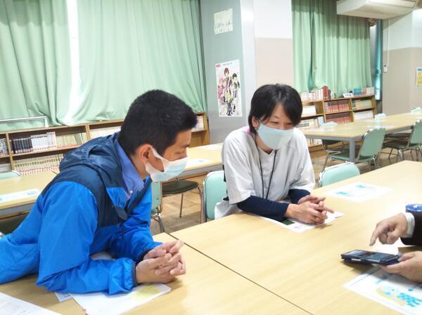 衣笠中学校 当推進事業を活用(打合せ)
