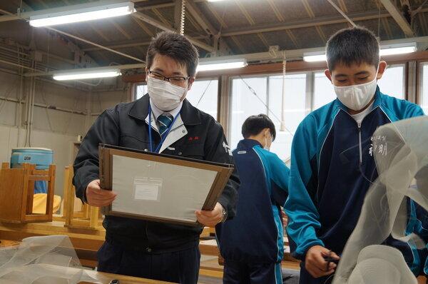 神明中学校 初体験ポスターセッション!